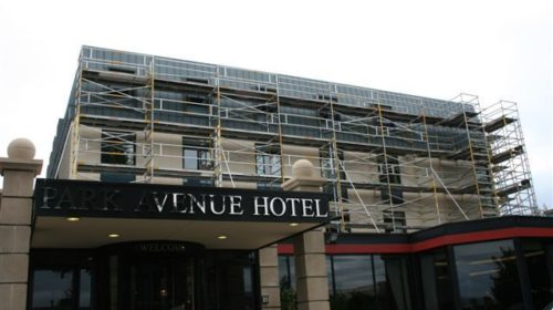 Instant UpRight Span 400 Alloy Towers at Park Avenue Hotel, Belfast