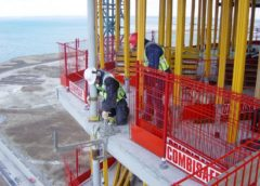Combisafe edge protection to concrete frame