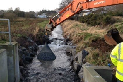 Rivers Agency install filter units in Camlough