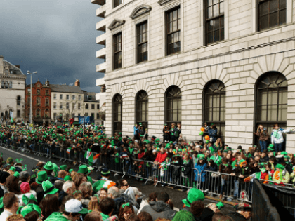 Crowd control barriers with smartweld technology in Dublin on St Paddys Day 2015