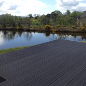 Private Dwelling Ballymena Co Antrim_Elevated deck with onto steel structure_295mm Charcoal Deck 3 - Copy (1)