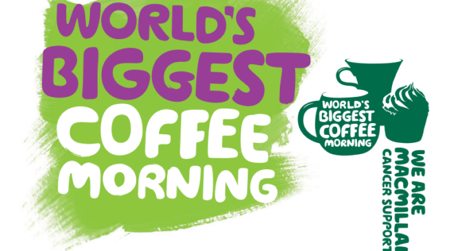 Join our Macmillan Coffee Morning Friday 27th September – Belfast