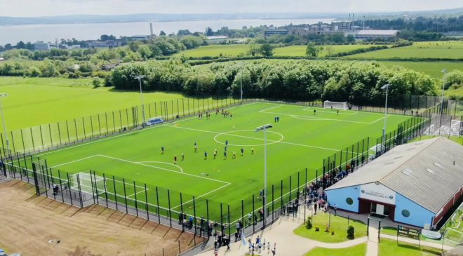 Ridgeway Supply Fencing Systems for Greenisland FC