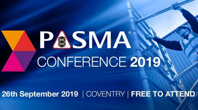 Book your free place for the 2019 PASMA Conference