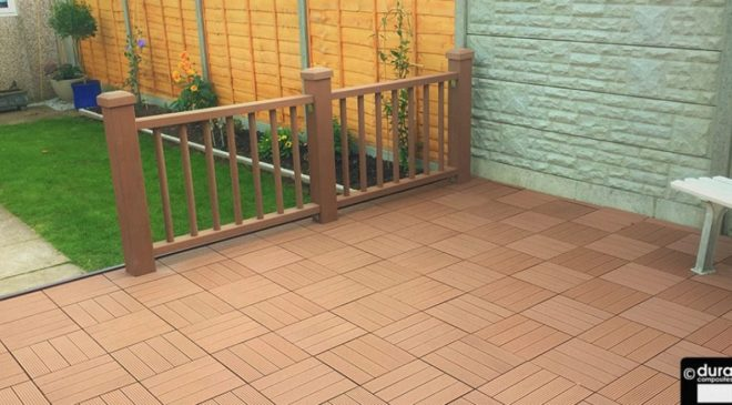 Composite decking used to transform a sun terrace