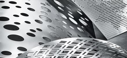 Ornamental perforated metal